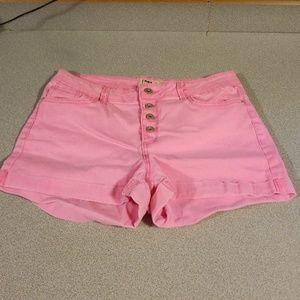 Hot pink cargo shorts
